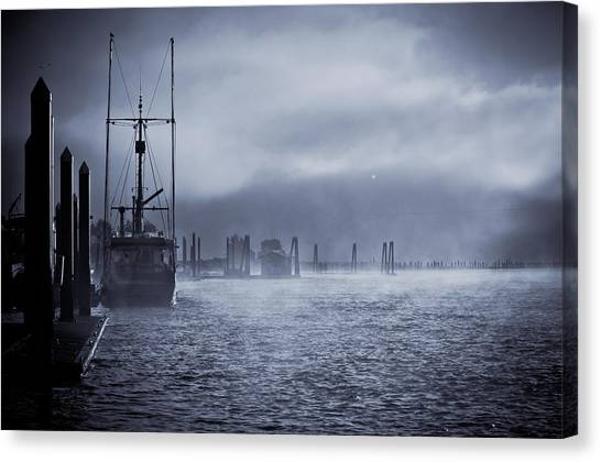 Misty Morning Canvas Print by Michael Connor