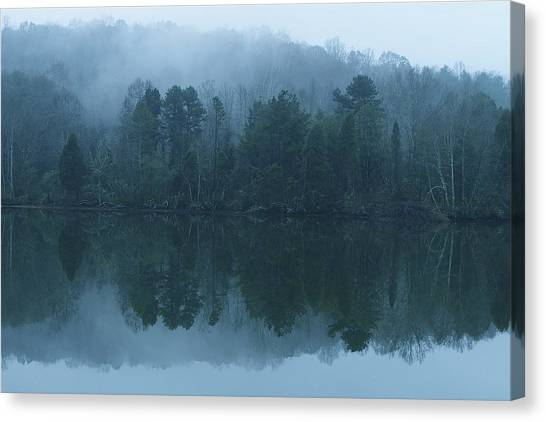 Misty Morning On The Clinch River Canvas Print