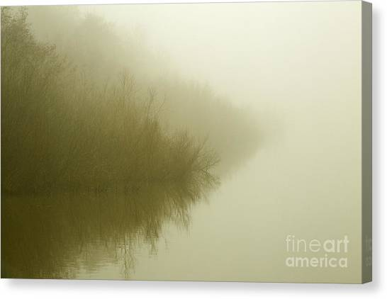 Misty Morning Reflection. Canvas Print