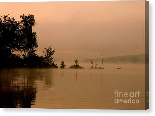Misty Morning Solitude  Canvas Print