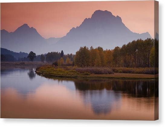 Misty Mountain Evening Canvas Print by Andrew Soundarajan