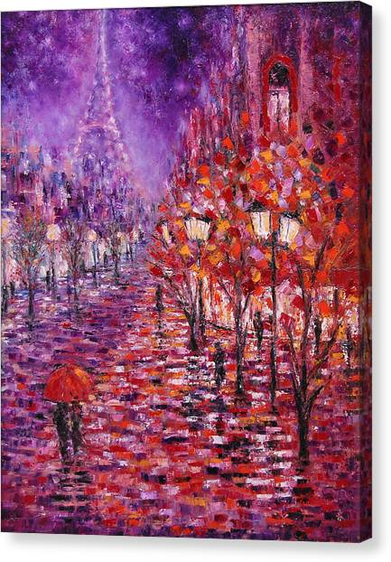 Misty Purple Canvas Print