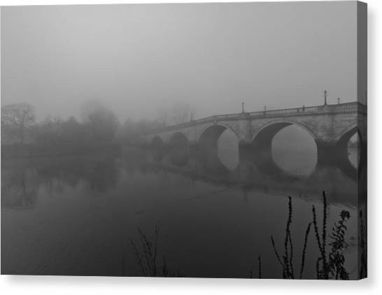 Misty Richmond Bridge Canvas Print