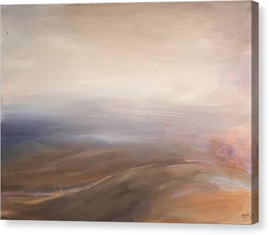 Misty Road Canvas Print by Tanya Byrd