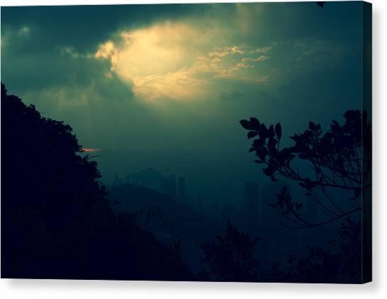 Misty Sunlight Canvas Print