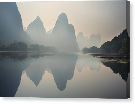 Misty Sunrise 1 Canvas Print