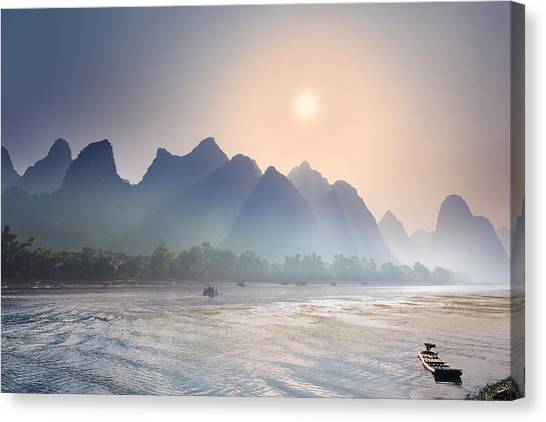 Misty Sunrise 2 Canvas Print