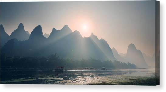 Misty Sunrise 4 Canvas Print
