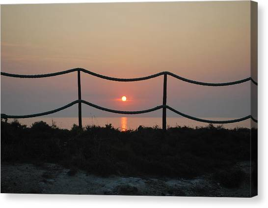 Misty Sunset 1 Canvas Print