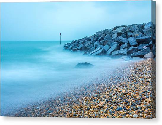 Misty Water. Canvas Print