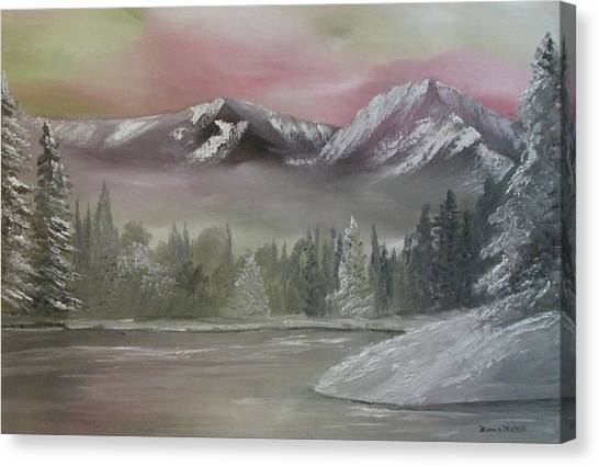 Misty Winter Canvas Print