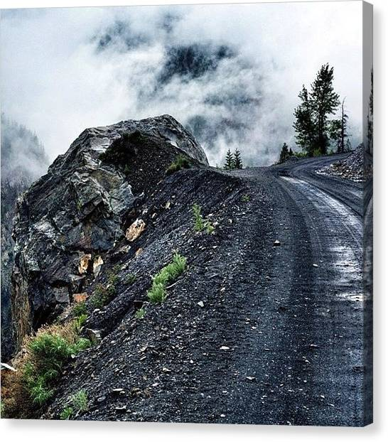 Dirt Road Canvas Print - #mistymountainhop #yoshihighway by Cody Haskell
