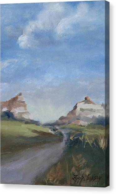 Mitchell Pass In Portrait Canvas Print by Leigh Morrison