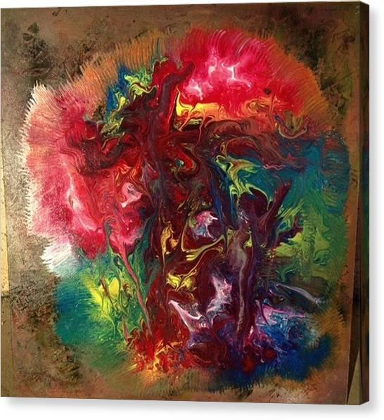 Alfredo Garcia Canvas Print - Mixed Media Abstract Post Modern Art By Alfredo Garcia Bizarre by Alfredo Garcia