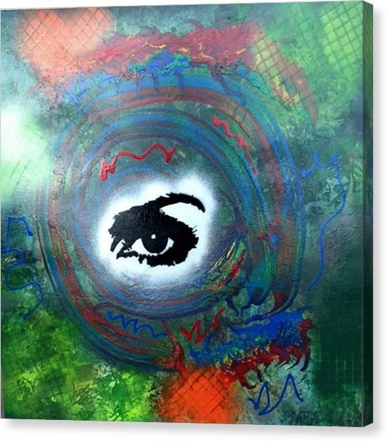 Alfredo Garcia Canvas Print - Mixed Media Abstract Post Modern Art By Alfredo Garcia Eye See You by Alfredo Garcia