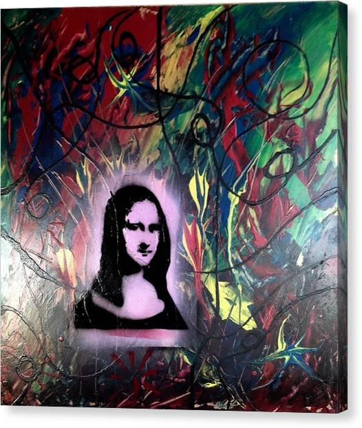 Alfredo Garcia Canvas Print - Mixed Media Abstract Post Modern Art By Alfredo Garcia Mona Lisa 2 by Alfredo Garcia