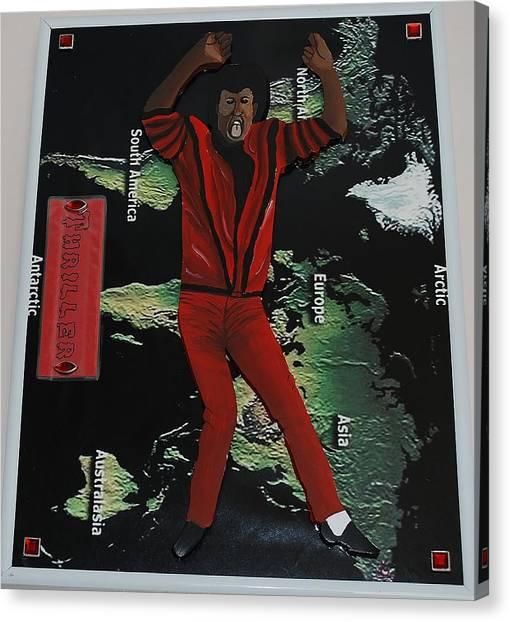 Mj Thriller Canvas Print