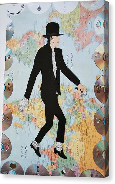Mj We Are The World Canvas Print