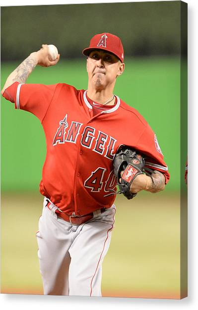 Mlb: May 26 Angels At Marlins Canvas Print by Icon Sportswire