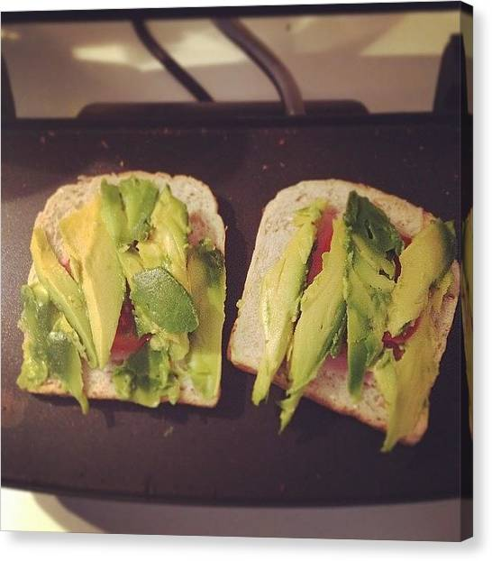 Ham Canvas Print - Mmm #avocado Packed To The Max On by Vincy S