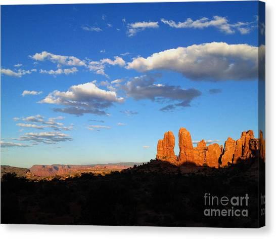 Canvas Print featuring the photograph Moab by Kate Avery
