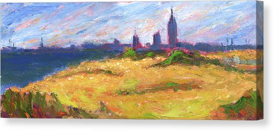 Mobile Skyline From Felixs Windy Day Canvas Print