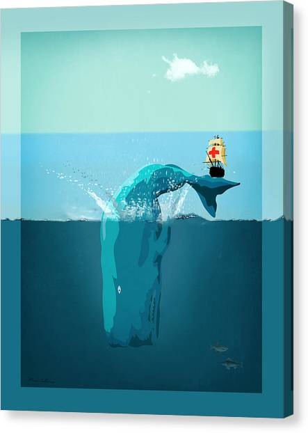 Ocean Life Canvas Print - Moby Dick by Mark Ashkenazi