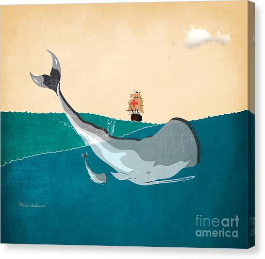 Ocean Life Canvas Print - Moby by Mark Ashkenazi