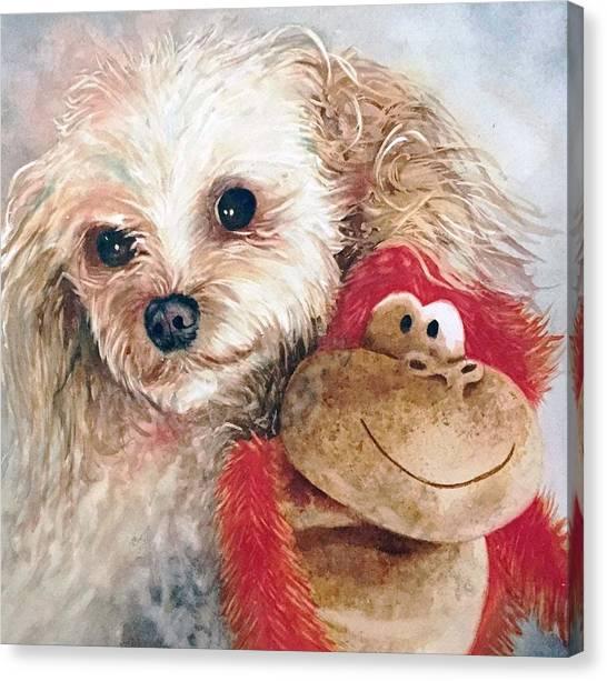 Mocha And Monkey Canvas Print