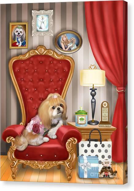 Mocha S Living Room Canvas Print
