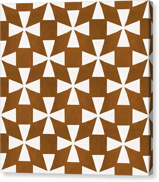 Diamond Canvas Print - Mocha Twirl by Linda Woods