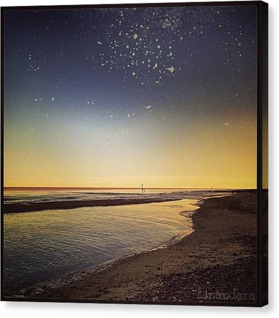 Starry Night Canvas Print - Mock #starry #night. .. #beach by Alexandra Cook