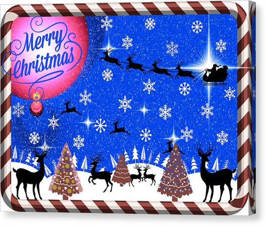 Mod Cards - Reindeer Games - Merry Christmas IIi Canvas Print