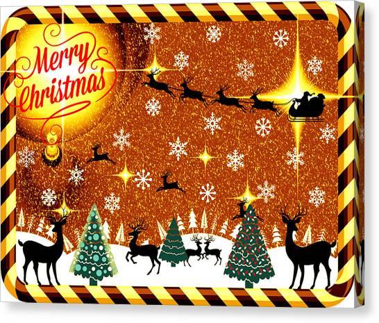 Mod Cards - Reindeer Games - Merry Christmas V Canvas Print
