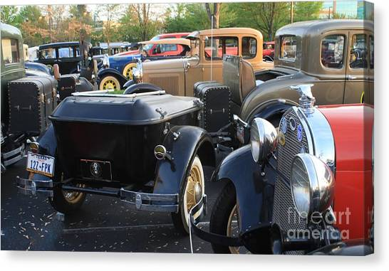 Model A With Trailor Canvas Print by Connie Mueller