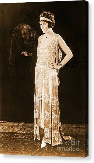 Model Norma Talmadge 1920 Canvas Print by Padre Art