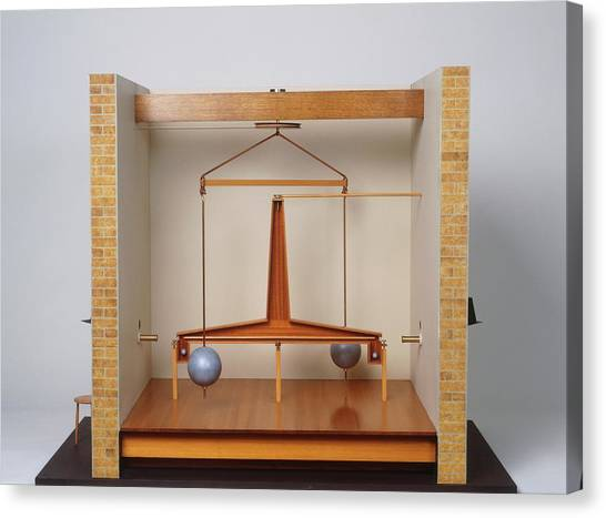 Model Of A Gravitational Experiment Canvas Print by Dorling Kindersley/uig