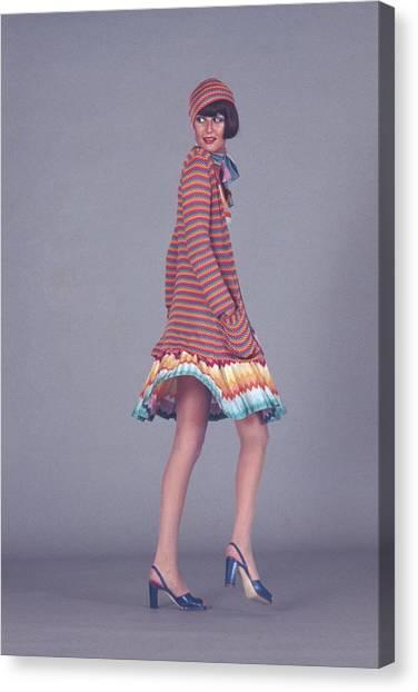 Suga Canvas Print - Model Wearing A Missoni Ensemble by Kourken Pakchanian