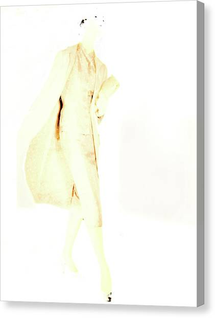 Adele Canvas Print - Model Wearing A Skirt Suit By Adele Simpson by Horst P. Horst