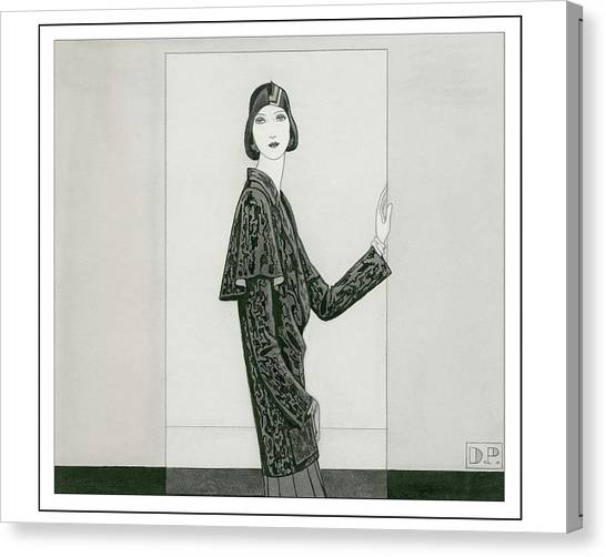 Indoors Canvas Print - Model Wearing Chanel And Marie-christiane by Douglas Pollard