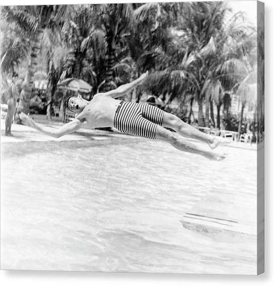 Model Wearing Robert Bruce Trunks Canvas Print by Richard Waite