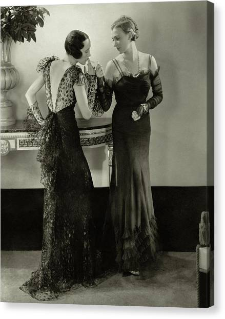 Models In Evening Gowns Canvas Print