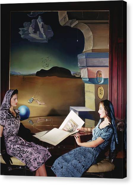 Adele Canvas Print - Models In The Dali Room In Helena Rubinstein's by Horst P. Horst