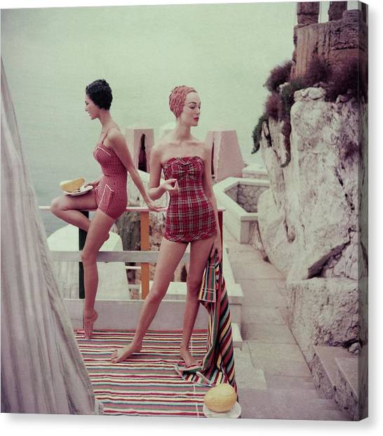 Models Wearing Bathing Suits In Palermo Canvas Print