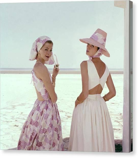 Gobi Canvas Print - Models Wearing Summer Dresses by Sante Forlano