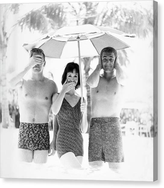 Models Wearing Swimwear Canvas Print by Richard Waite