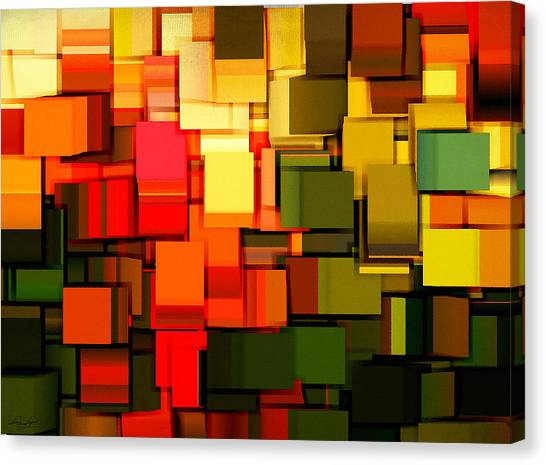 Spinach Canvas Print - Modern Abstract I by Lourry Legarde