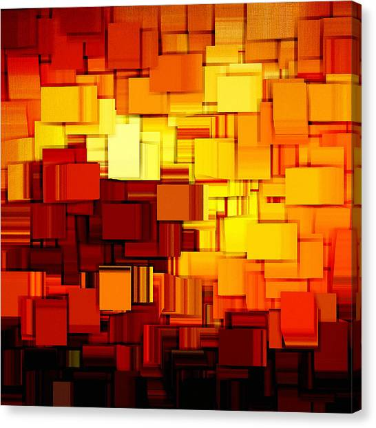 Maple Leaf Art Canvas Print - Modern Abstract Xi by Lourry Legarde