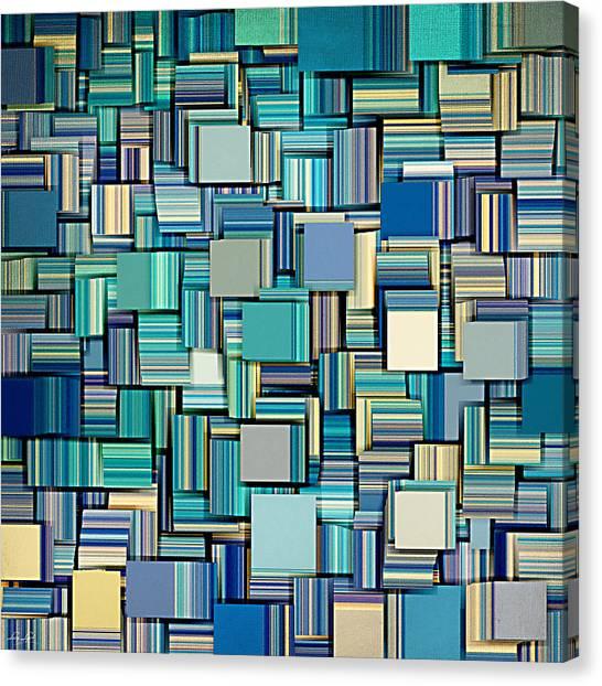 Three Dimensional Canvas Print - Modern Abstract Xxiv by Lourry Legarde