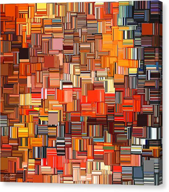 Tangerine Canvas Print - Modern Abstract Xxxi by Lourry Legarde